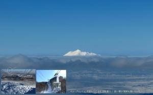 白き津軽富士